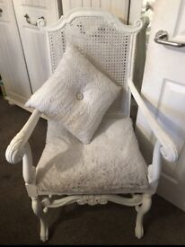 Shabby chic French vintage carved chair