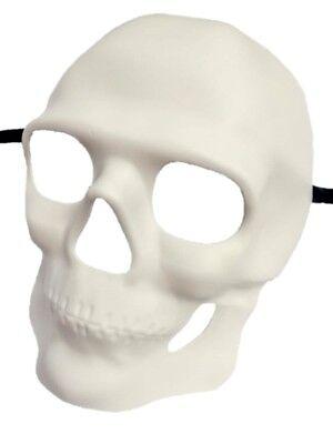 Paint Create Decorate White Skull Facial Mask Skeleton Mardi Gras Pirate DIY