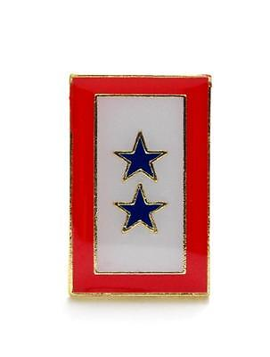 Double Blue Star Flag Banner Lapel Hat Pin Marines Army Navy Air Force PPM595