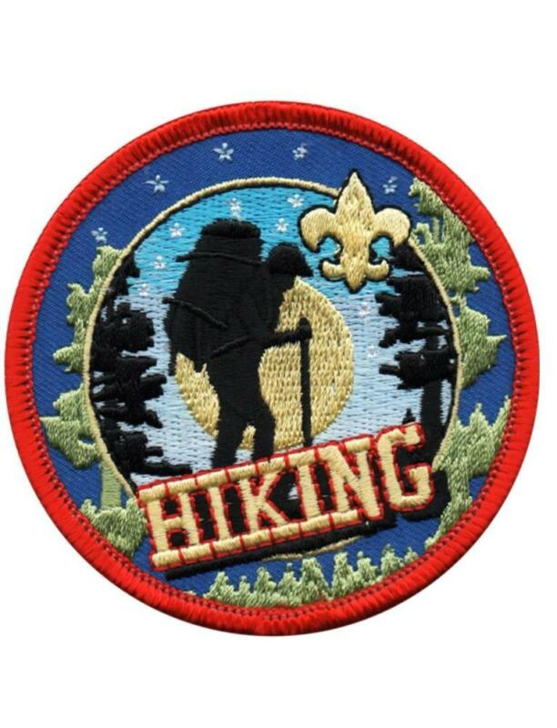 Boy Scouts of America BSA 3 inch HIKING Activity Patches  trails miles NEW