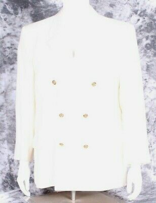 Authentic Vintage Gianni Versace Wool Double Breasted Ivory Coat