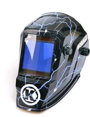 Kobalt Welding Helmet Auto Darkening Variable Shade Hydrographic Mask Hood Hat