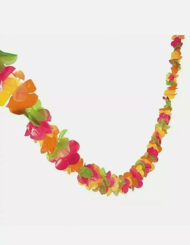 Lei Garland 100 feet Plastic luau party decor tiki Hawaiian birthday graduation