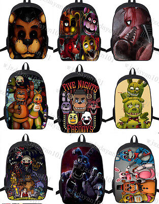 Five Nights At Freddys Freddy Backpack Chica Foxy Bonnie Fnaf Shoulder Bag 17