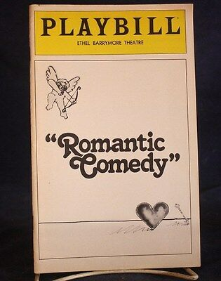 Play Bill Romantic Comedy the Ethel Barrymore Theatre Anthony Perkins, Mia Farro