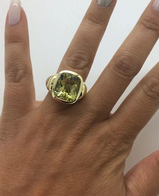 David Yurman 14/k Gold Sss Lemon Citrine Large Noblesse Ring