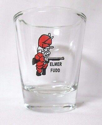 Elmer Fudd Image on Clear Shot Glass
