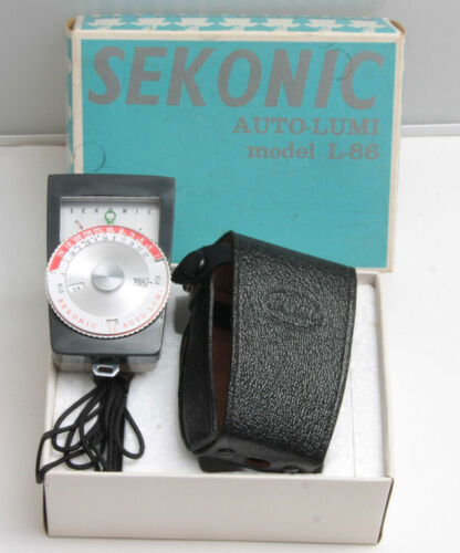 Sekonic L-86 Auto-Lumi with Case and Box - NOT FUNCTIONING - PARTS C663