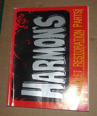 HARMONS CHEVROLET RESTORATION  Catalog USA 1993 Edition RARE