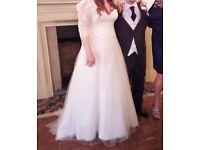 Sincerity 3895 ivory wedding dress size 16