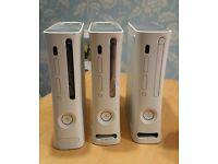 3 x Xbox 360 Consoles - spares or repairs