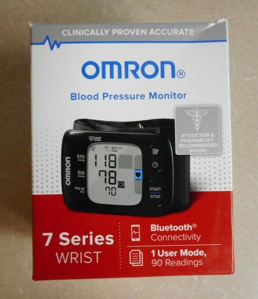 New Omron Blood Pressure Monitor 7 Series Wrist Bluetooth He