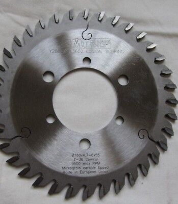 Cmt 288.160.3602 Industrial Conical Scoring Blade 160mm X 4.7-6x55 Z36 Conica