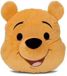 Disney WINNIE THE POOH Large Pillow Stuffed Plush Head Cushion Teddy Bear NEW