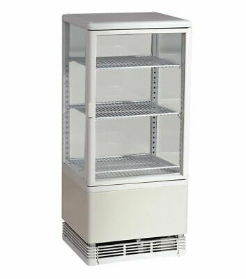 Marchia Mdc78w 39 Vertical Countertop Refrigerated Glass Display Case White