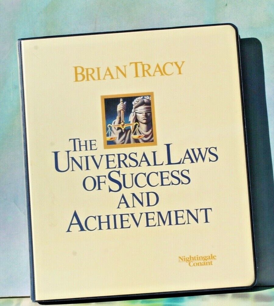 Universal Laws Of Success Achievement By Brian Tracy, Workbook, 8 Cassettes  - $34.95