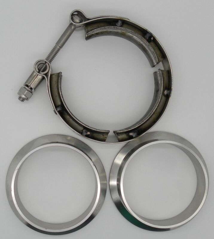 Quot v band piece clamp flange set stainless steel