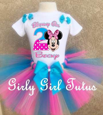 Baby Girls 1st or 2nd Birthday Tutu Outfit Party Dress Set Minnie Mouse Birthday](Minnie Mouse Outfit Baby)