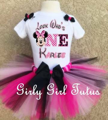 Minnie Mouse 1st Birthday Personalized Add Name Tutu Set