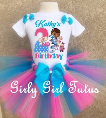 Doc Mcstuffins Birthday Outfit (Doc Mcstuffins and Friends Personalized Birthday Tutu Outfit Animal)