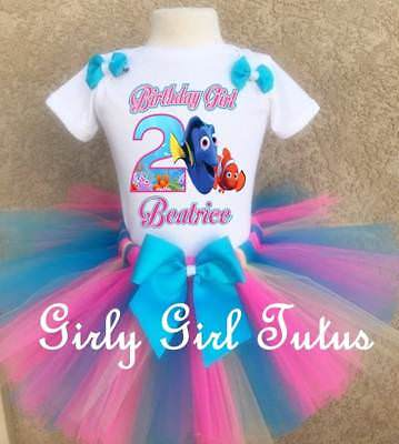 Dory Outfit (Finding Dory with Nemo Girl Birthday Tutu Outfit Party Dress)