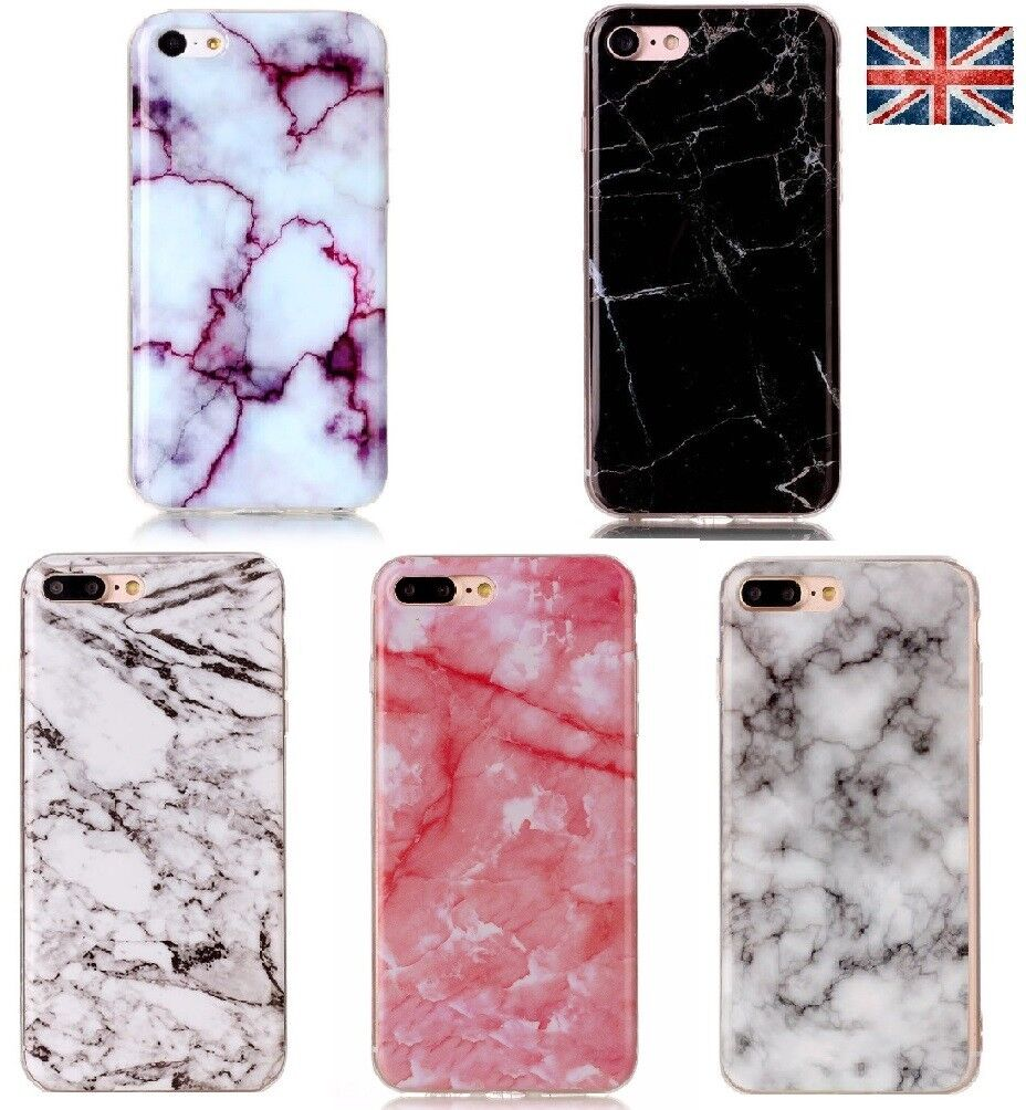 Granite Marble Soft Silicone Phone Case Skin Cover For iPhone 5 SE 6 7 8 Plus x