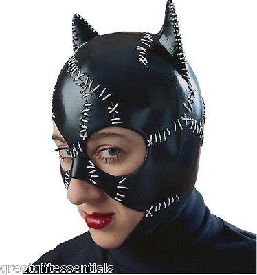 Catwoman Mask Batman Returns Costume Cat Woman Adult Superhero Pfeiffer LICENSED - Vinyl Catwoman Mask