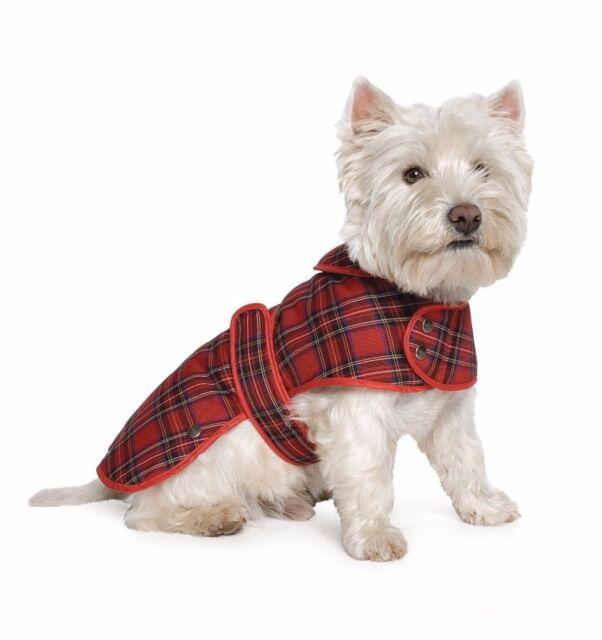 Ancol Highland Tartan Dog Coat Muddy Paws Coat Red Medium
