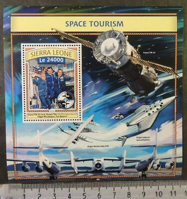 Sierra Leone 2016 space tourism soyuz virgin galactic s/sheet mnh