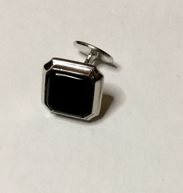 DAVID DONAHUE STERLING SILVER AND BLACK ONYX CUFF LINK ONE ONLY EUC
