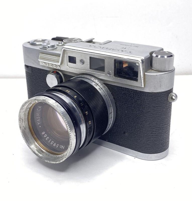 Yashica YF Nicca 35mm Rangefinder Film Camera W/ Yashikor 5cm 1:2.8 - VINTAGE