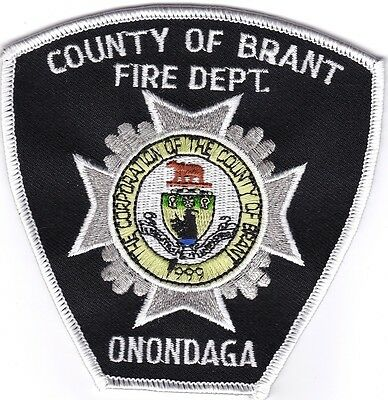 County of Brant Fire Dept. Onondaga Firefighter patch NEW!