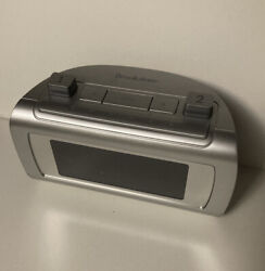Brookstone TimeSmart Self Setting Dual Alarm Digital Alarm Clock Model 4511