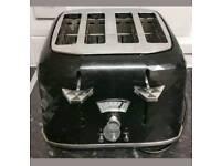 Delongi 4 slice black toaster