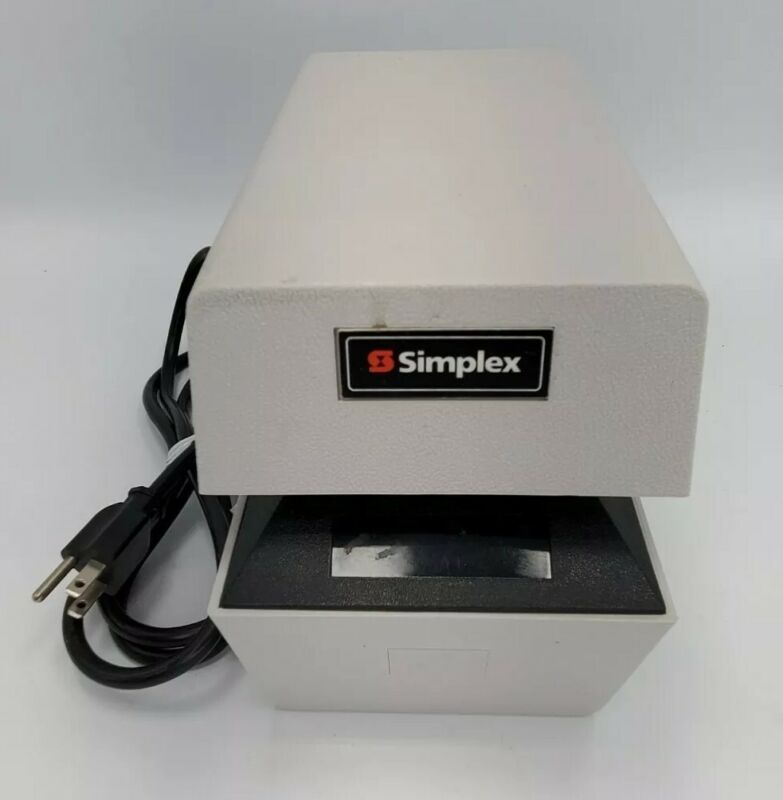 Simplex 1307-9001 Time Date Stamp 1307 Time Clock with Key
