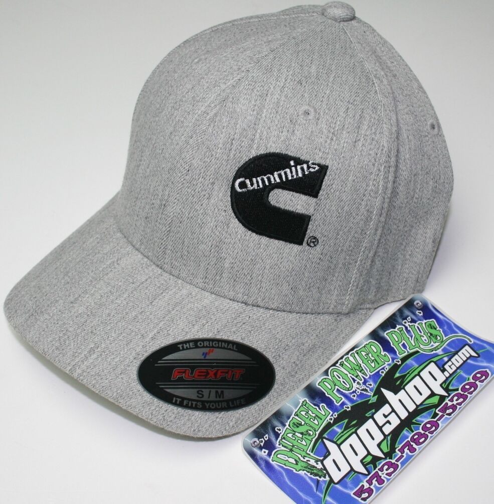 Cummins truck diesel cummings flexfit hat ball cap fitted flex fit s/m heather