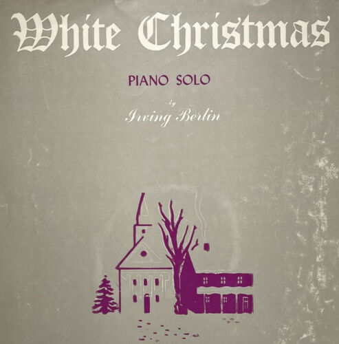 Irving Berlin Antique Vtg Piano Solo Sheet Music WHITE CHRISTMAS 1942 - $4.99