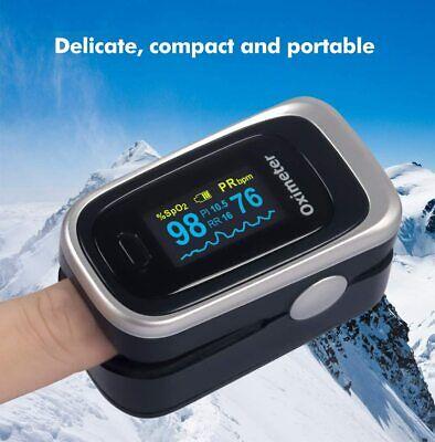 Portable Oled Fingertip Pulse Oximeter Spo2 Pr Pi Respiration Heart Rate Monitor