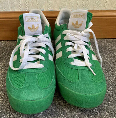 Adidas Dragon Mens Size UK 9 Green Suede Trainers