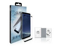 Samsung Galaxy S8 Screen Protector Tempered Glass inc. Cleaning Kit in the Pack