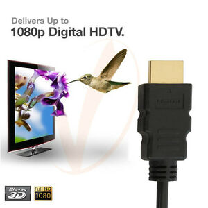 Top-1-8M-6FT-Gold-HDMI-1-4-Cable-Blu-Ray-3D-HD-TV-DVD-PS3-XBOX-LCD-HDTV-1080P