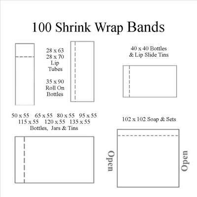 Shrink Wrap Bands Shrink Plastic For Cosmetics Lip Balm Tubes Jars Bottles Soap