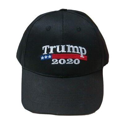 Trump 2020 President Make America Great Again MAGA Baseball Cap Hat BLACK