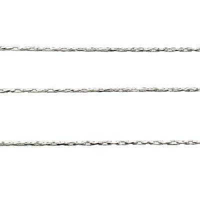 Bulk 925 Sterling Silver 0.8mm Diamond-Cut BEADING stringing CHAIN