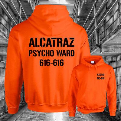 ALCATRAZ HOODY Halloween Costume Prison Psycho Ward Mens Womens Unisex Hoodie
