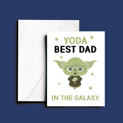 Funny Fathers Day Birthday Card - Yoda Best DAD Love You I Do - Star Wars