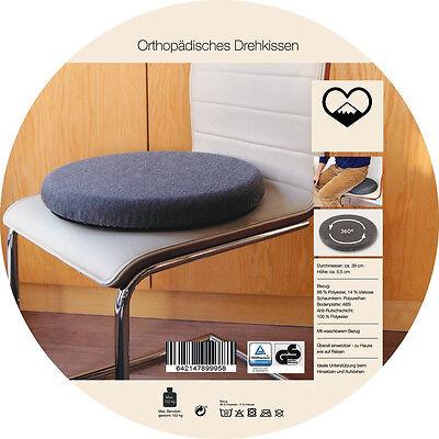 Orthopädisches Drehkissen,Sitzkissen, Einstiegshilfe, Senioren,bis 150 Kg,Ø 39cm