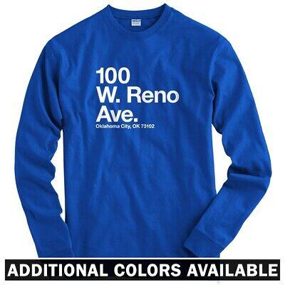 Oklahoma City Basketball Stadium Long Sleeve T-shirt - LS Men S-4X - OK Thunder