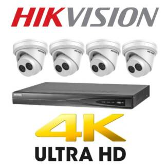 5MP HIKVISION 4CH CCTV 4K IP SECURITY CAMERA PACKAGE INSTALLED