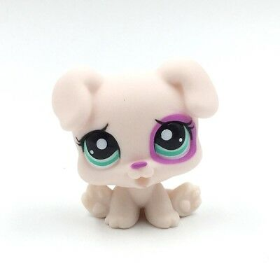 Littlest Pet Shop toys Old LPS dog #1534 white puppy with green Eyes rare toy (Old Littlest Pet Shop)